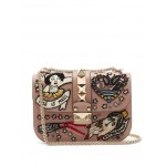 Lock small embellished leather shoulder bag