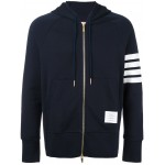 Full Zip Hoodie With Engineered 4-Bar Stripe